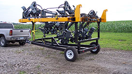corn detasseling head trailer